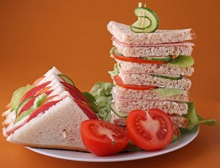 plate of sandwich club photo