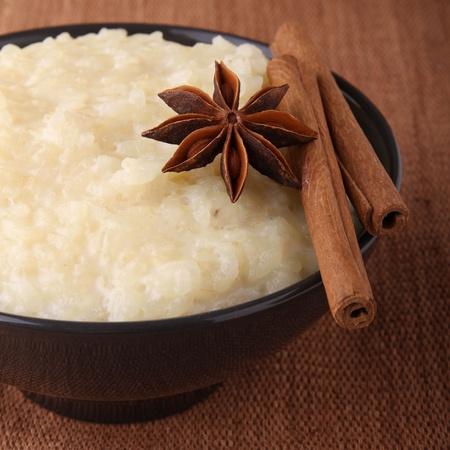 anis: rice pudding Stock Photo
