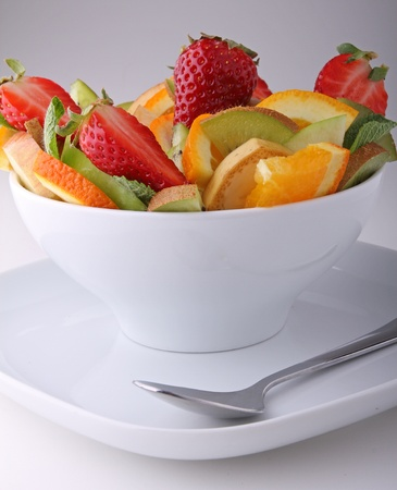 ensaladas de frutas: Ensalada de frutas Foto de archivo