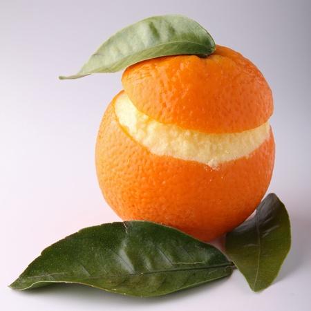 sorbet: Sorbete de naranja Foto de archivo