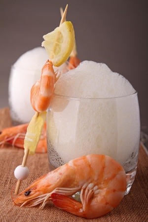 shrimp and emulsion Stock Photo - 9509303