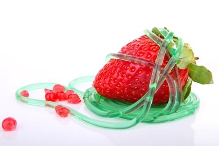 strawberry and molecular food