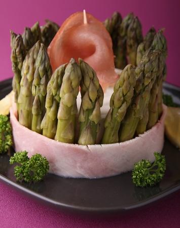 charlotte: asparagus charlotte Stock Photo