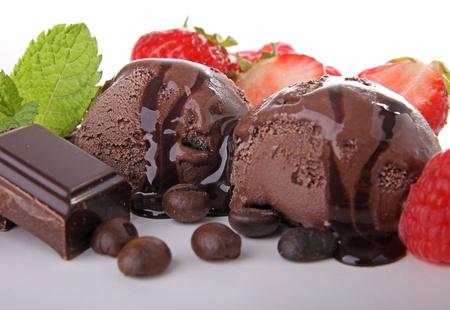 strawberry ice cream: chocolate ice cream
