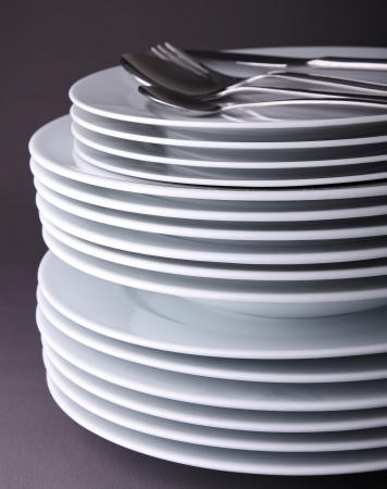 stack of plate photo