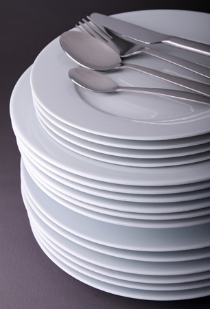 stack of plate Stock Photo - 9904746