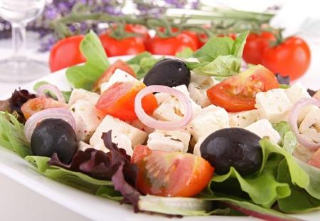 feta: feta salad Stock Photo