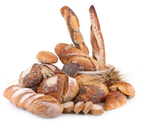 varieties: isolated heap of bread