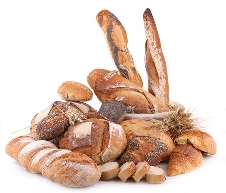 panettiere: isolato mucchio di pane