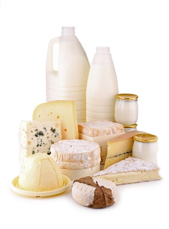 isolated dairy products Stock Photo - 10519716