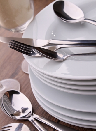 plates and cutlery photo
