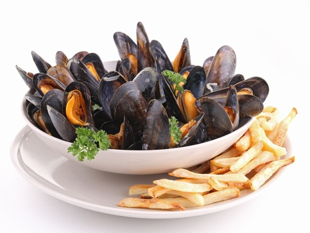 mussels and french fried
