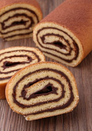 swiss roll: chocolate cake roll