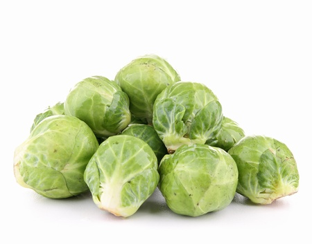 brussels sprouts: isolated brussels sprouts on white background