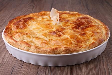 gourmet potato and meat pie