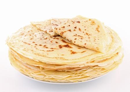 crepe: isolated pile of pancake