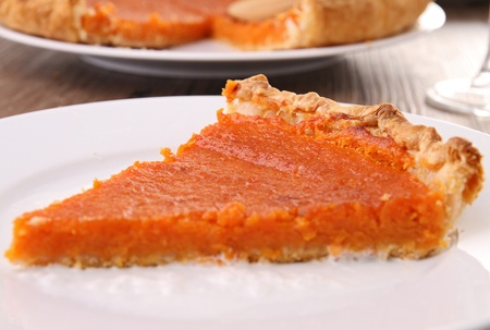 slice of pumpkin pie photo