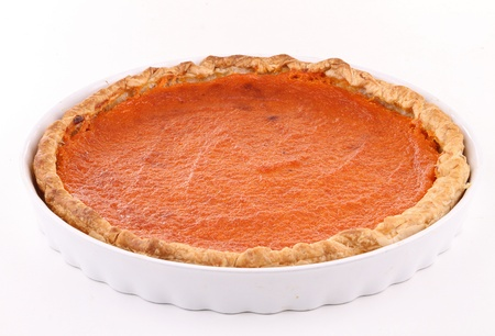 isolated pumpkin pie photo