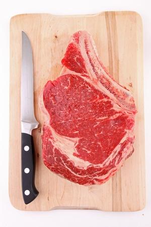 isolated raw rib beef Stock Photo - 11232606