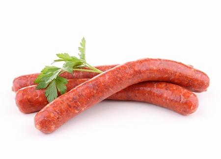 white sausage: isolated raw sausage