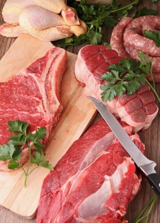 carnicero: carne cruda