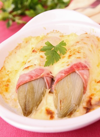 endive: endive, ham and cheese