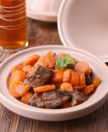 tajine, beef and carrot Stock Photo - 11353296