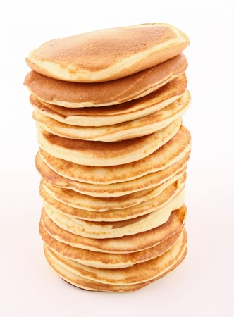 isolated stack of pancakes photo