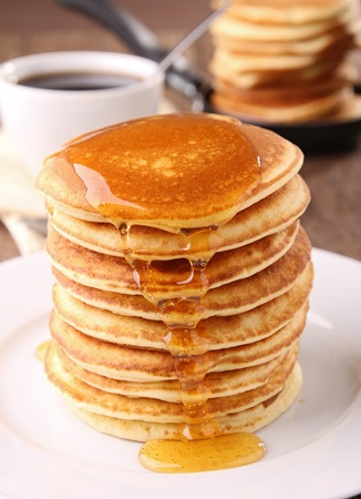 syrup: pancake and syrup