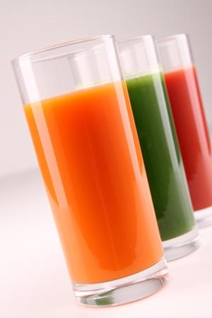 licuados de frutas: colorido c�ctel Foto de archivo