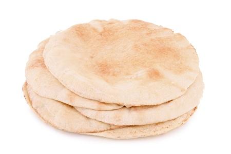 naan: pita bread on white