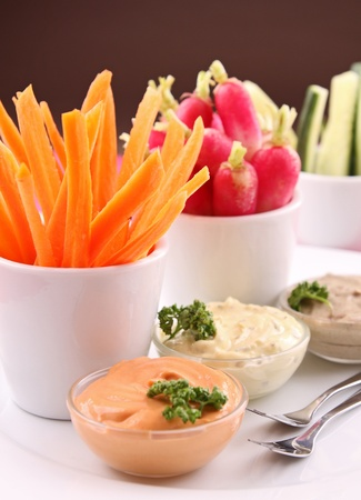 vegetables and dips photo