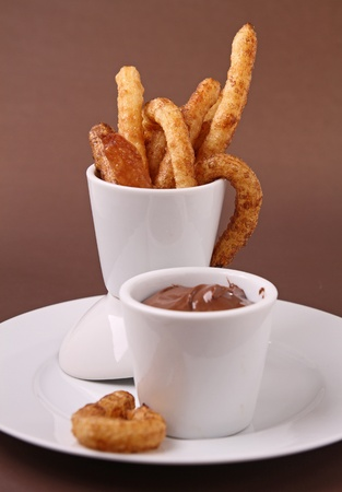 churros: chocolate with churros
