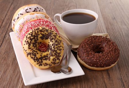 donuts and coffee photo