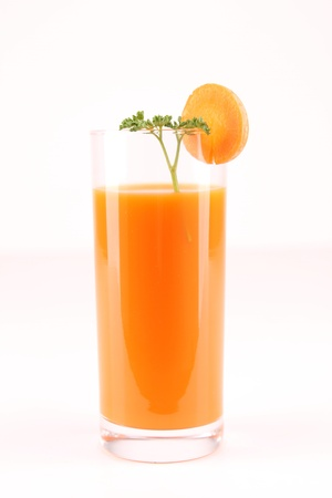 isolated carrot juice photo