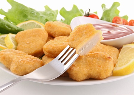 nuggets de pollo: pepitas