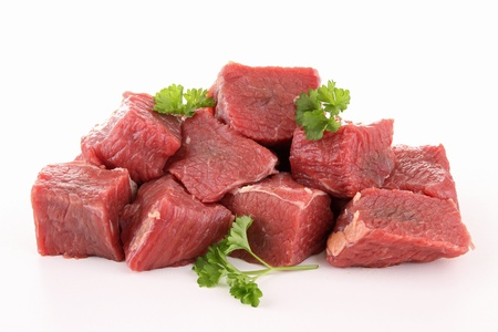 braised: raw meat beef Stock Photo