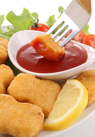 nuggets and ketchup photo