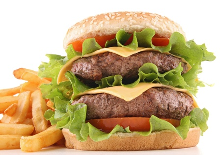 Isolierten hamburger Standard-Bild - 12321046