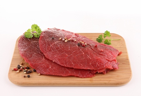 isolated raw meat beef Stock Photo - 12321236