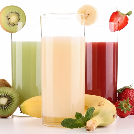 fruit smoothie: isolated fruit juice