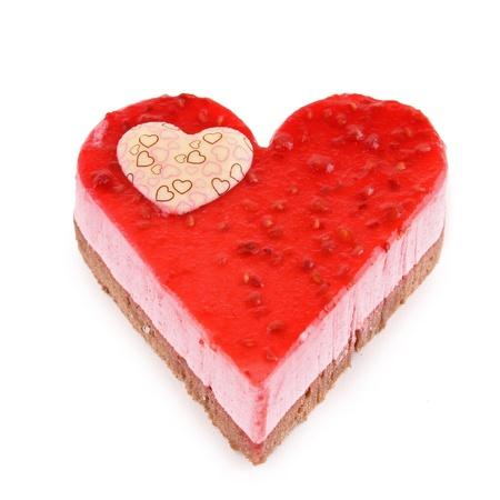 heart shaped: isolated heart shaped pastry