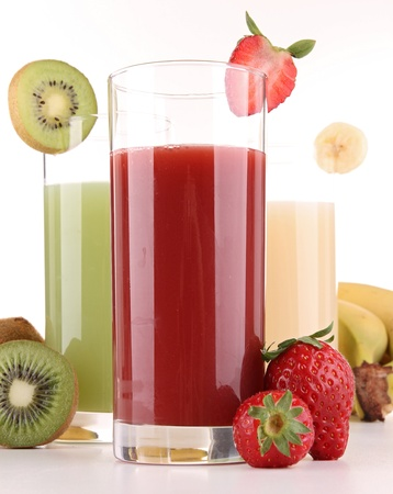 isolated fruits juice photo