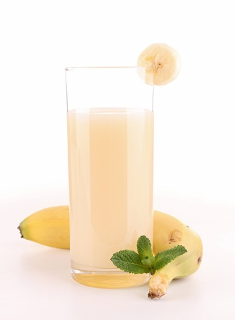 isolated banana juice photo