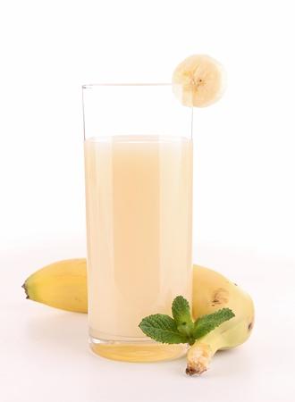 juice fruit: succo di banana, isolato Archivio Fotografico