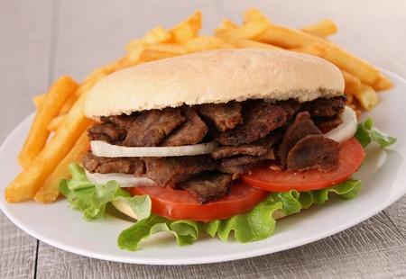sandwich, kebab photo