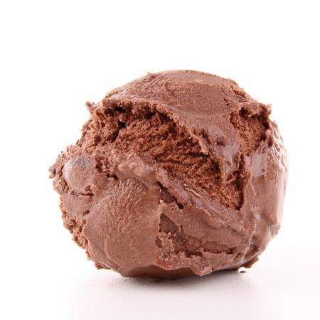 chocolate ice cream: isolated scoop of ice cream