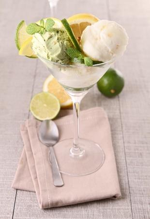 lemon ice cream photo