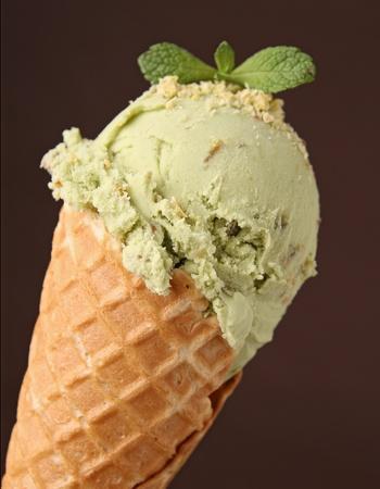 sorbet: de helados en cono Foto de archivo