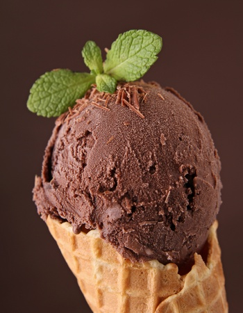 chocolate ice cream photo